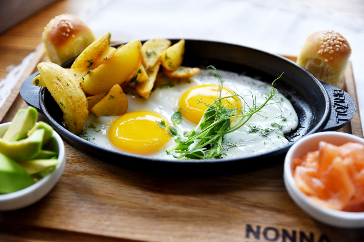 Яичница c картофелем