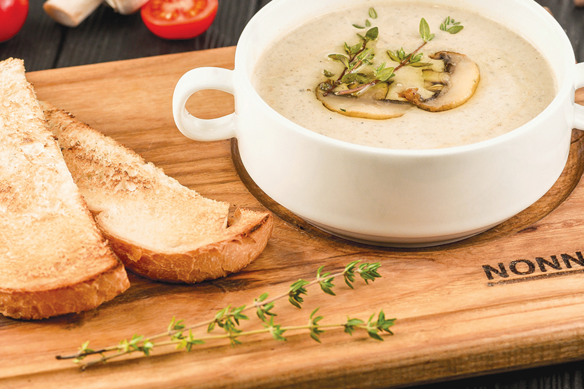 Крем-суп з грибів